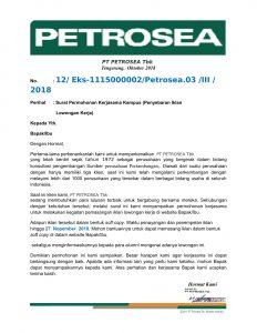 Permohonan pemasangan iklan PT.Petrosea.Tbk-1