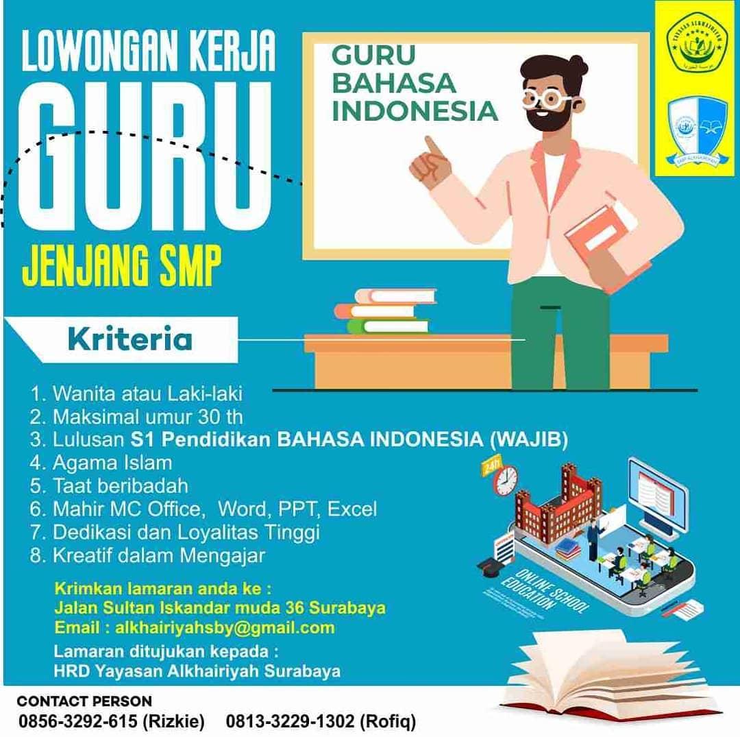 Guru Sd Guru Bahasa Indonesia Guru Ppkn Sekolah Alkhairiyah Surabaya Ika Um